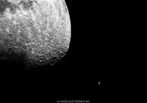 NEW  月と土星(コンポジット合成)